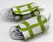 Green Chain Link Cord Wrap - Set of 2