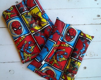 Kid's Small Rice Bags Set of 2 Spiderman Motif Rice Bags Microwave and Freezer Kids Rice Bags