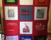 T Shirt Quilt 12 Block Memory Quilt Custom Order Quilt - Using Your Shirts-DEPOSIT ONLY