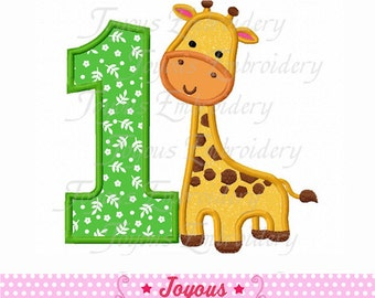 Instant Download Giraffe Number 1 Embroidery  Applique Design NO:1622