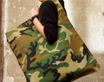 NEW Camouflage Military Pattern Bag / High Quality  Tote Asymmetrical  Large Bag by AAKASHA A14171
