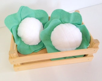 Felt Pretend Play Food Cauliflower