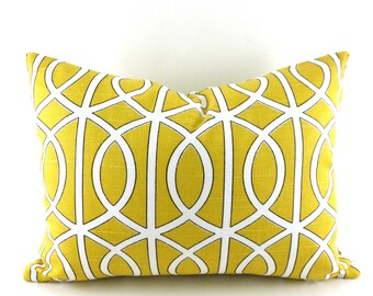 CLEARANCE SALE Lumbar Pillow Dwell Studio Bella Porte Citrine Yellow