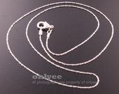 4pcs- 16inch Rhodium Plated solid brass thinnest snake Chain(N130S)
