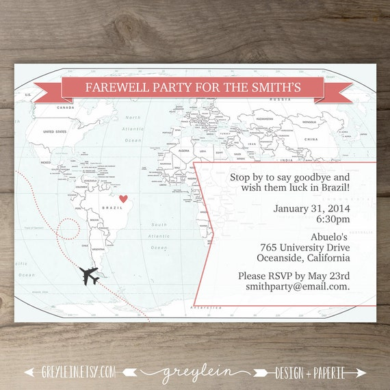 Going Away Party Invitations Goodbye Party Invites Moving – Goodbye Party Invitation Wording