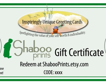 Gift Certificate 50 USD