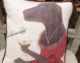 Dog People Pillow:  Featuring The Grandiose Lady