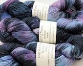 Aurora Unafraid 75/20/5 SW Merino/Nylon/Stellina fingering weight shimmer sock yarn
