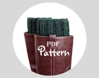 PDF CROCHET PATTERN - Make It Yourself:  Pattern for Lady Makenna Boot Cuffs, Classic and Chic Design, Digital Download, Lots of Photos