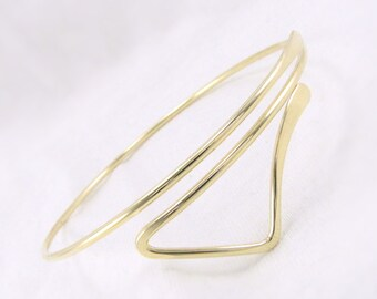 silver arm cuff silver armlet arm bracelet by cuprum29