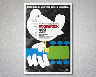 Woodstock Music Poster - Poster Paper, Sticker or Canvas Print