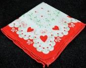 Vintage Valentine's Handkerchief VC
