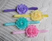 Baby Headband Set. Glitter Headband Set. Pastel Headbands. Spring Gliiter Headbands. Infant Gift Set