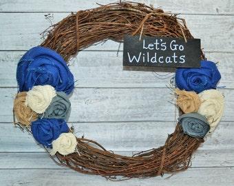 Burlap Kentucky Wildcats Wreath
