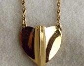 Vintage Trifari Goldtone Heart Necklace