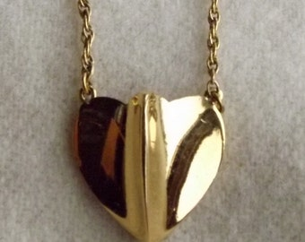 Vintage Trifari Goldtone Heart Necklace