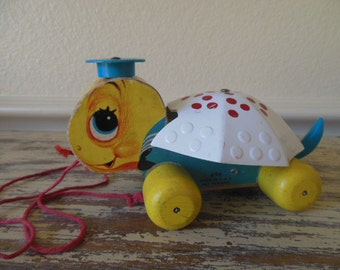 Turtle Toy--Fisher Price--Tiny Tim--Retro