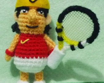 Crochet Tennis Figure amigurumi  Rafael Nadal
