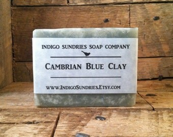 Cambrian Blue Clay Soap // Unscented Handmade Soap  // Vegan Soap // Blue Clay Soap // Cold Process Soap with Cambrian Blue Clay