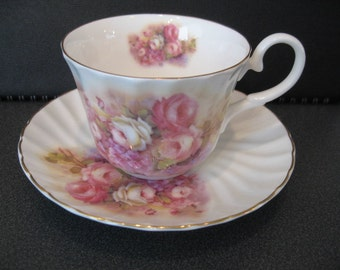 Vintage English Bone China Argyle Teacup and Saucer