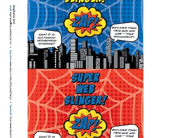Superhero Silly String Labels • 5 x 5.625 • DB • INSTANT DOWNLOAD