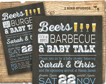 barbecue baby shower invitation beer bbq baby shower invitation boy baby shower coed