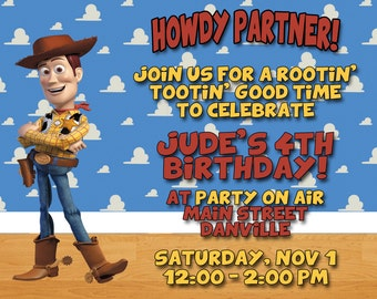 Toy Story Woody Invitations - 30 Invites