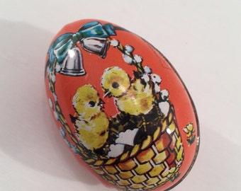 Vintage Tin Lithograph Egg