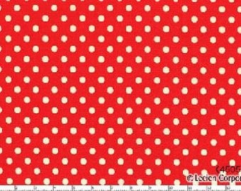 Red Small Polka Dots from Color Basics by Lecien