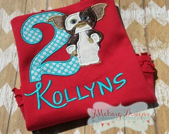 Gremlins Inspired Gizmo Birthday Custom Tee Shirt - Customizable -  Infant to Adult 33