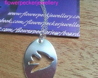 Swallow Bird Necklace Bird Silver Pendant in Sterling Silver