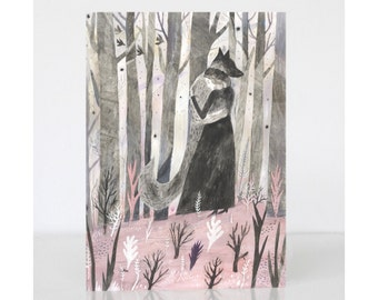 Wolf Greetings Card - The Company of Wolves