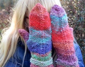 Noro Mitered mittens