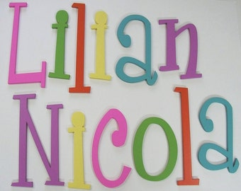 SOLID PAINTED 12 inch Wooden Wall Letters -Your choice of font and color