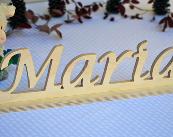 Custom Name Sign - Wood Word Sign - Custom Word Sign - Free Standing Letter Sign - Wall Letter Sign - Wooden Letter for Nursery