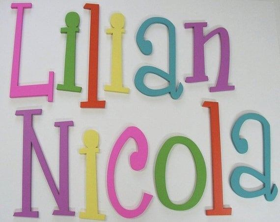 wooden wall letters nursery decor wall hanging home decor wall art