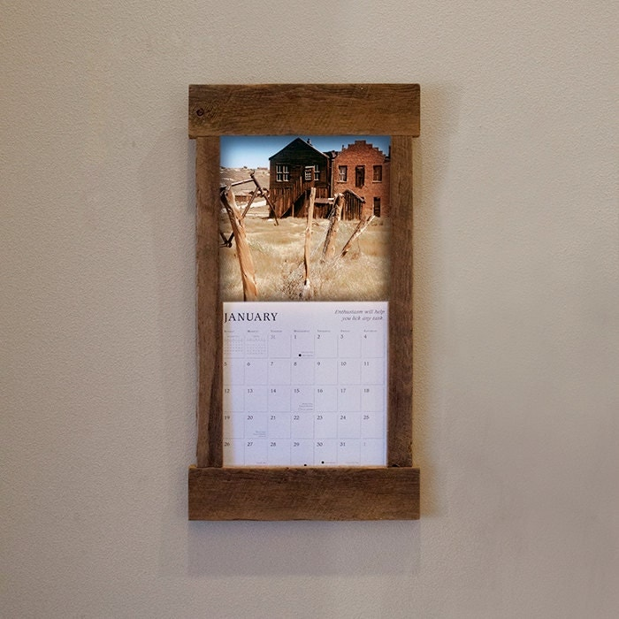 Calendar Wooden Frame : Rustic barn wood calendar holder reclaimed by tumbleweedcabin