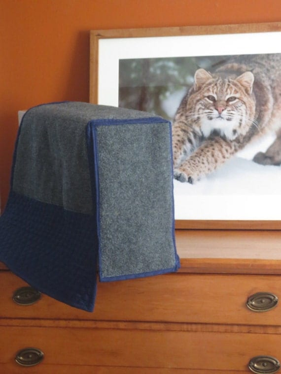 Items Similar To Cat Scratching Furniture Arm Protector Custom Made Blue Scratch Able Couch