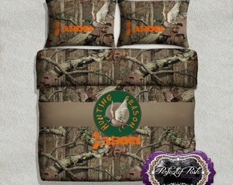 hunter camo theme with deer or duck bedding custom design and comforter or duvet with