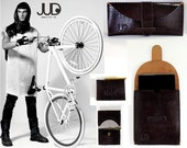 leather purse set of 3 SALE python bags set - leather purse bag - leather backpack leather envelope clutch travel purse slim leather wallet