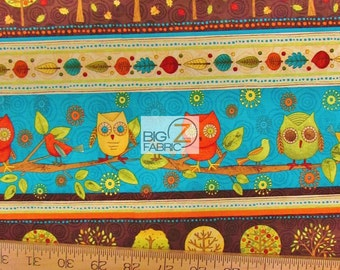 """Full Fun Owl By Wilmington Prints 100% Cotton Fabric - 45"""" Width Sold By The Yard (FH-1154)"""