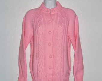 Vintage 80's pink button down sweater