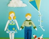 Happytown Play Set - Maisie and Max Fly Kites  - PDF doll patterns