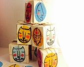 TIC TAC TOE, a fun, original and new note and crosses game ,made and painted on wood !