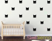 Batman wall decals, Batman decal, Batman wall sticker, nursery wall decal, wall decals, wall stickers, vinyl wall decal stickers x 20