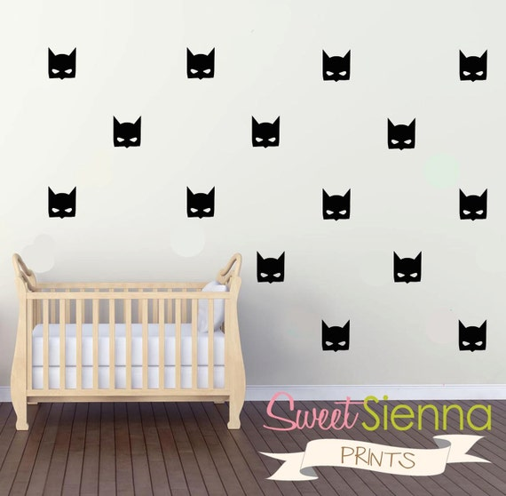 wandtattoo von batman batman aufkleber batman von sweetsiennaprints. Black Bedroom Furniture Sets. Home Design Ideas