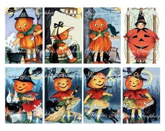 Halloween Download - Vintage Halloween Postcard Digital Download
