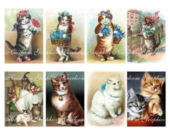 Cat Download  Vintage Cat Collage Digital Download