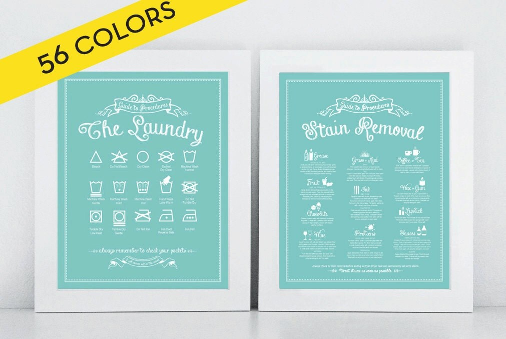 laundry room vintage signs set the laundry and stain removal prints icons