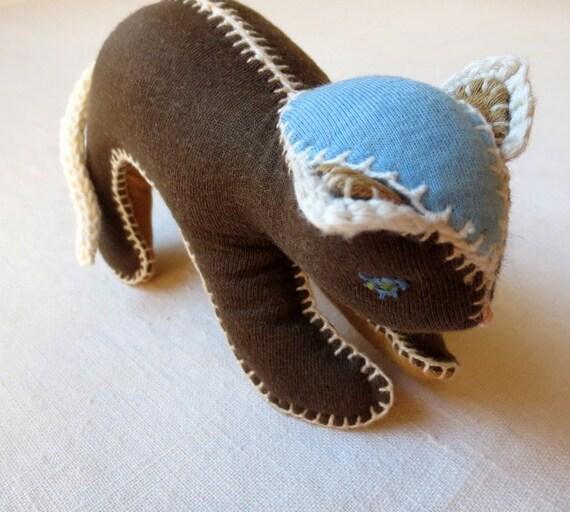 Kuscheltier katze waldorf stofftier baby sicheres spielzeug